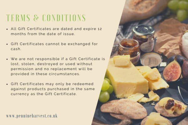 Pennine Harvest Gift Voucher Terms & Conditions