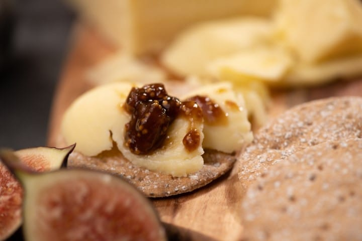 Bowland Mature Cheddar and Fig Relish